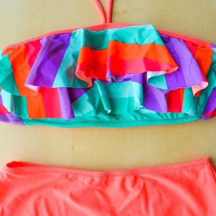 Orange shade layered bandeau with H..